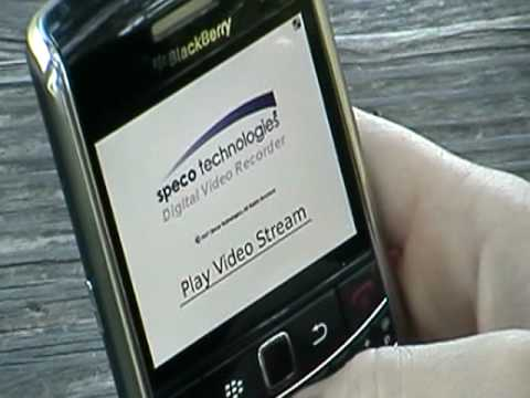 Security Video Surveillance on Blackberry SmartPhone