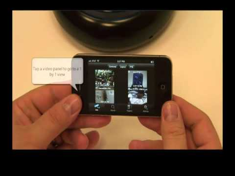 Watch security cameras on Ipad, Iphone and Andoroid - Smart Phone Security App