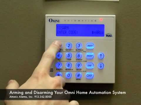 Atronic Alarms Shows How to Arm and Disarm Your Omni Home Automation System